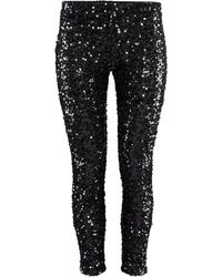 H&M Flared Lace Trousers black - Lyst