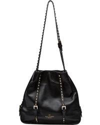 Valentino Rockstud Hobo Bag black - Lyst
