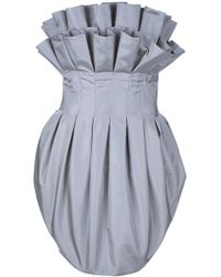 Alexander McQueen Strapless Bubble Dress - Lyst