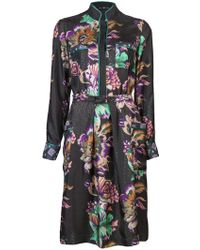Etro Long Sleeve Shirt Dress - Lyst