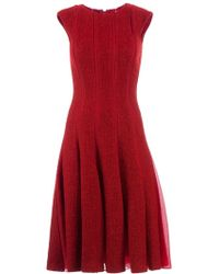 Giambattista Valli Pleated Flared Dress - Lyst