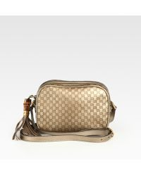 Gucci Sunshine Metallic Microguccissima Disco Bag - Lyst