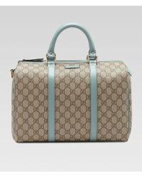 Gucci Joy Gg Canvas Boston Bag - Lyst