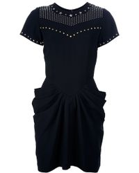 Isabel Marant Stud Embellished Dress - Lyst
