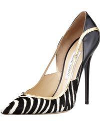 Jimmy Choo Viper Calf Hair Stiletto Pump - Lyst