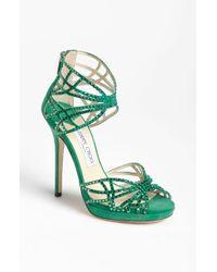 Jimmy Choo Diva Sandal green - Lyst