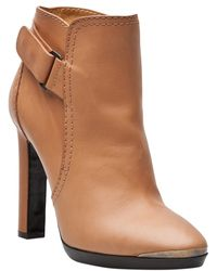 Lanvin Side Buckle Bootie - Lyst
