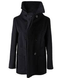 Maison Martin Margiela Tailored Wool Pea Coat - Lyst
