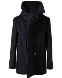 Maison Margiela Tailored Wool Pea Coat - Lyst