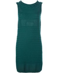 Max Mara Studio Woven Wool Shift Dress - Lyst