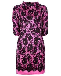 Milly Floral Print Dress - Lyst