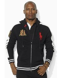 Ralph Lauren Soft Black Men Big Pony Red Hoody .