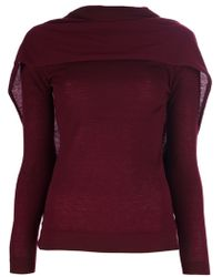 Roland Mouret Draped Back Sweater - Lyst