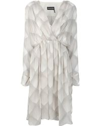 Sonia Rykiel Printed Pleated Dress - Lyst