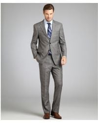 Tommy Hilfiger  Glen Plaid Wool Flannel Two Button Nathan Suit with Flat Front Pants - Lyst