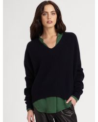 Vince Double V Ribbed Sweater - Lyst
