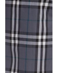 Burberry Checked Cotton Pajama Pants blue - Lyst