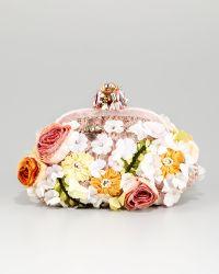 Dolce & Gabbana Miss Dea Lace Floral Pouchette Clutch Bag - Lyst