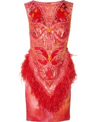 Matthew Williamson Swarovski Crystalembellished Printed Silk Dress - Lyst
