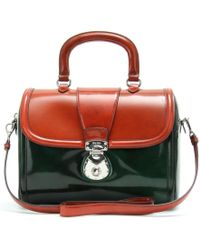Miu Miu Boxcalf Handbag green - Lyst