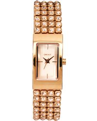 DKNY Rose Gold Stainless Steel Bracelet Watch - Lyst