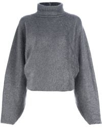 Haider Ackermann Draped Turtle Neck Sweater - Lyst
