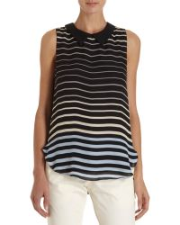L'Agence Collared Blouse - Lyst