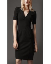 Burberry Structured Shift Dress - Lyst