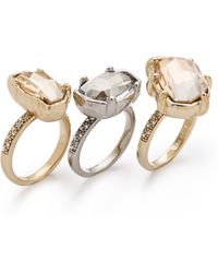 Made Her Think - Dame Stacked Pave Rings - Lyst