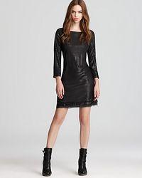 Michael Stars  Sequin Three Quarter Sleeved Dress - Lyst