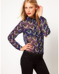 ASOS Collection Asos Shirt with Dandizette Wallpaper Print - Lyst