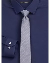 Theory Slim-Fit Dover Luxe Dress Shirt blue - Lyst