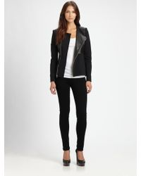 Elizabeth And James Trudy Leather Panel Jacket - Lyst