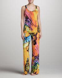 Josie Gobi Printed Jersey Pajamas - Lyst