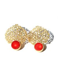 Toosis Coral Reefs Earrings - Lyst