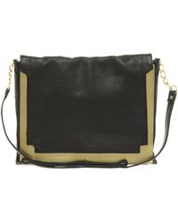 Asos Leather Metal Across Body Bag - Lyst