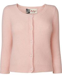 Boutique by Jaeger - Flora Angora Cardigan - Lyst