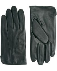 Calvin Klein - Leather Gloves - Lyst