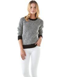 DKNY - Novelty Stitch Crew Neck Sweater - Lyst