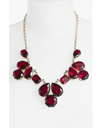 Kate Spade Bib Necklace red - Lyst