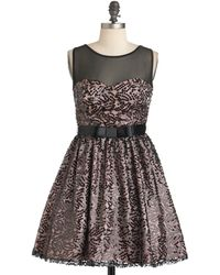 ModCloth Onyx Opulence Dress - Lyst