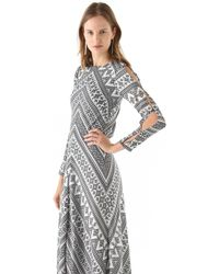 Pencey - Chevron Maxi Dress - Lyst