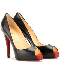 Christian Louboutin Very Prive 120 Peep Toe Pumps - Lyst