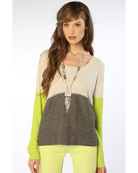 Free People The Colorblock Pullover in Gray Combo - Lyst
