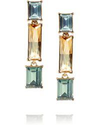 Oscar de la Renta 24karat Gold Plated Swarovski Crystal Clip Earrings - Lyst