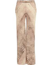 Willow - Crocprint Silk chiffon Wide-leg Pants - Lyst
