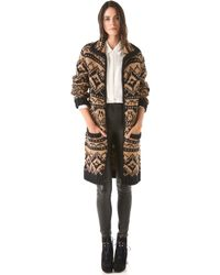 Yigal Azrouël - Fair Isle Jumper Coat - Lyst