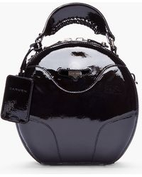 Carven - Black Patent Leather Round Bag - Lyst