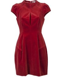 Carven Velvet Dress - Lyst