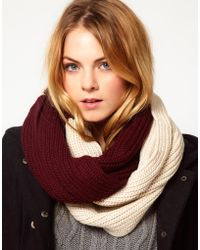 French Connection Block Colour Snood purple - Lyst